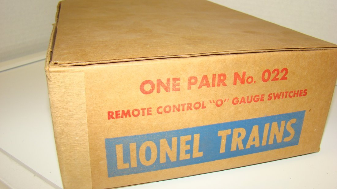 LIONEL NO. 022 REMOTE CONTROL ''O'' GAUGE SWITCHES - 5
