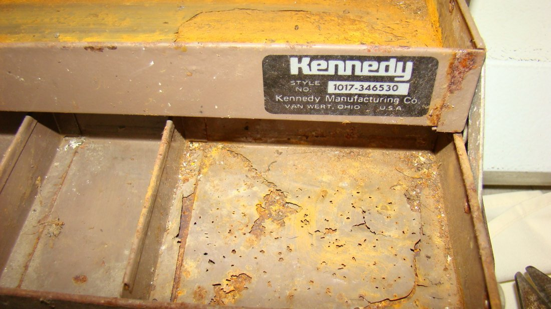 USED KENNEDY TOOL BOX W/ CONTENTS - 4
