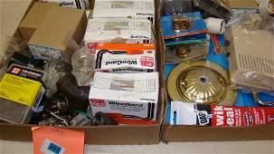 2 BOXES-VARIOUS HARDWARE & ELECTRICAL HARDWARE