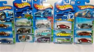 VARIOUS DIECAST CARS; NEW IN PACKAGE; HOTWHEELS; M