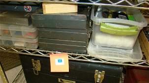 HALF SHELF-METAL & PLASTIC BOXES OF HARDWARE