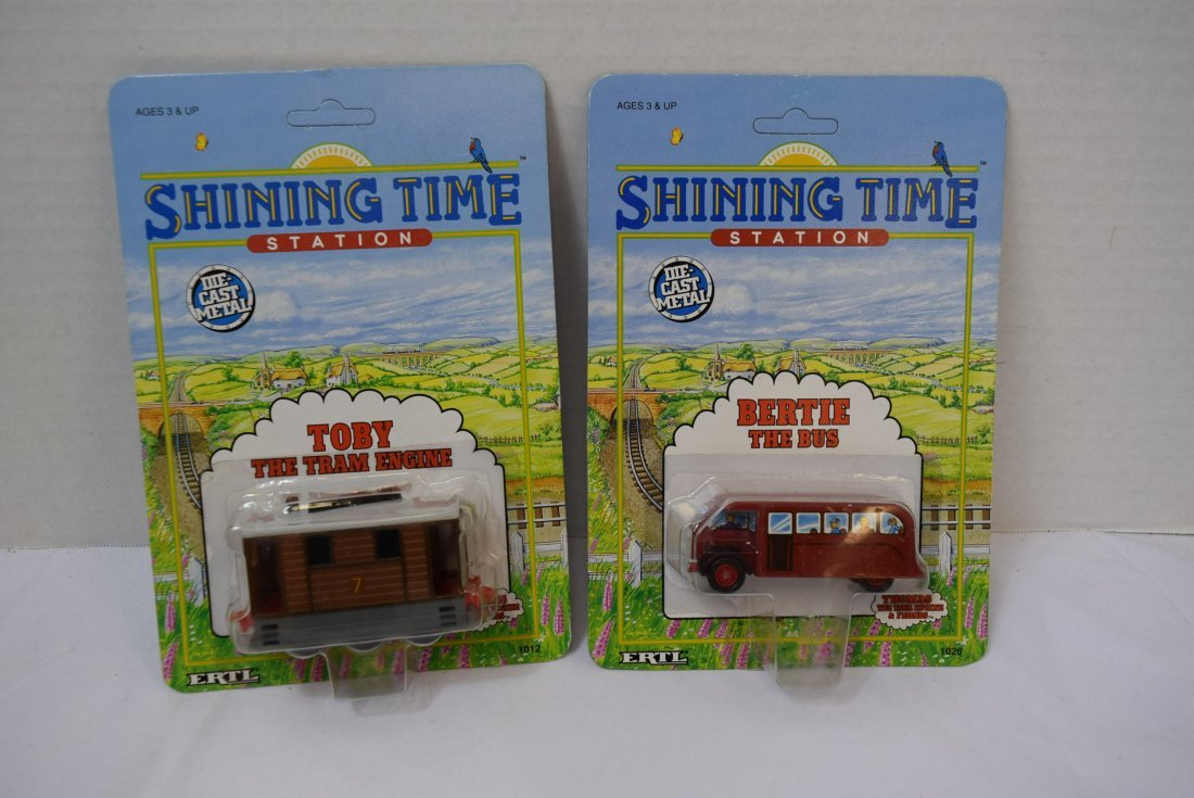 2 SHINING TIME DIECAST METAL CARS; TOBY AND BERTIE