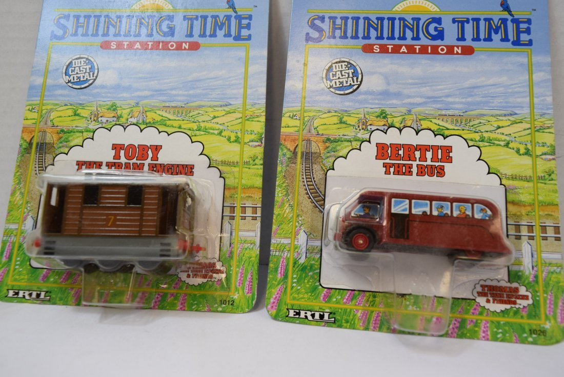 2 SHINING TIME DIECAST METAL CARS; TOBY AND BERTIE - 2