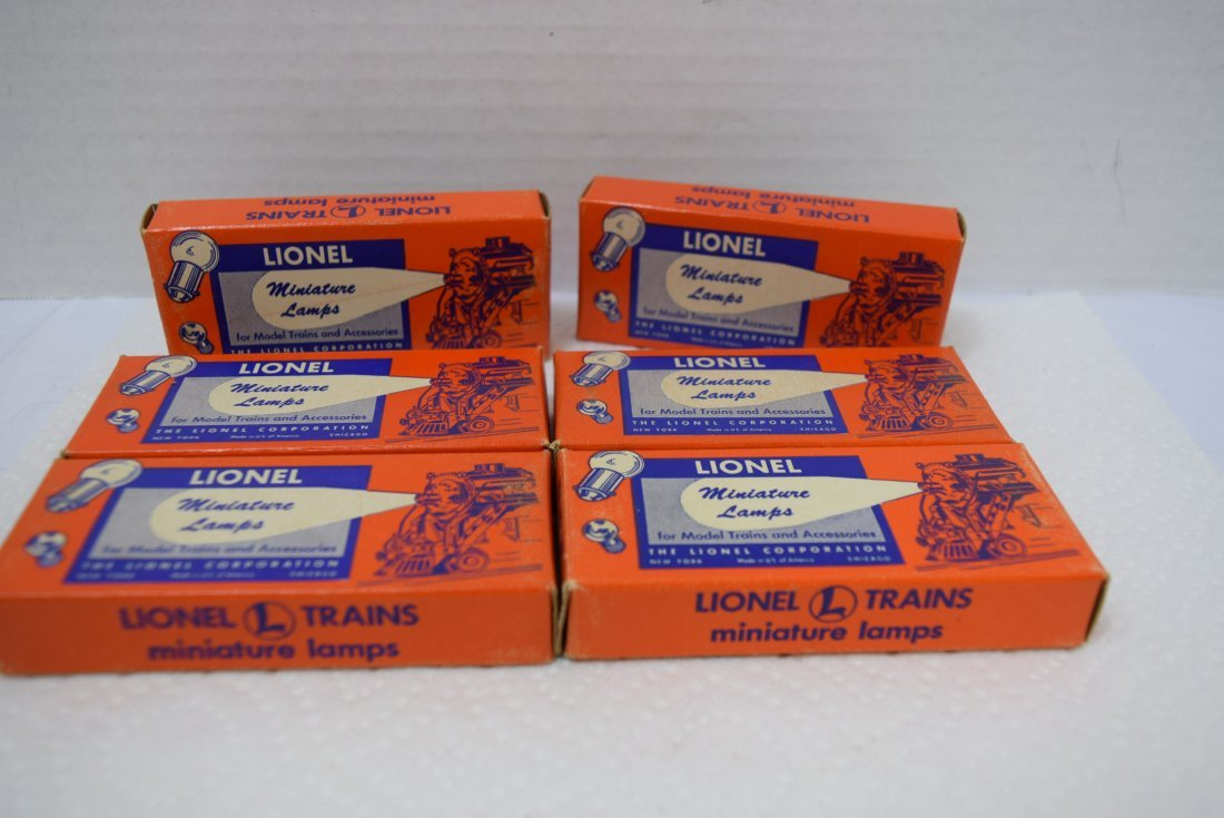 6 BOXES OF LIONEL MINIATURE LAMPS - 2