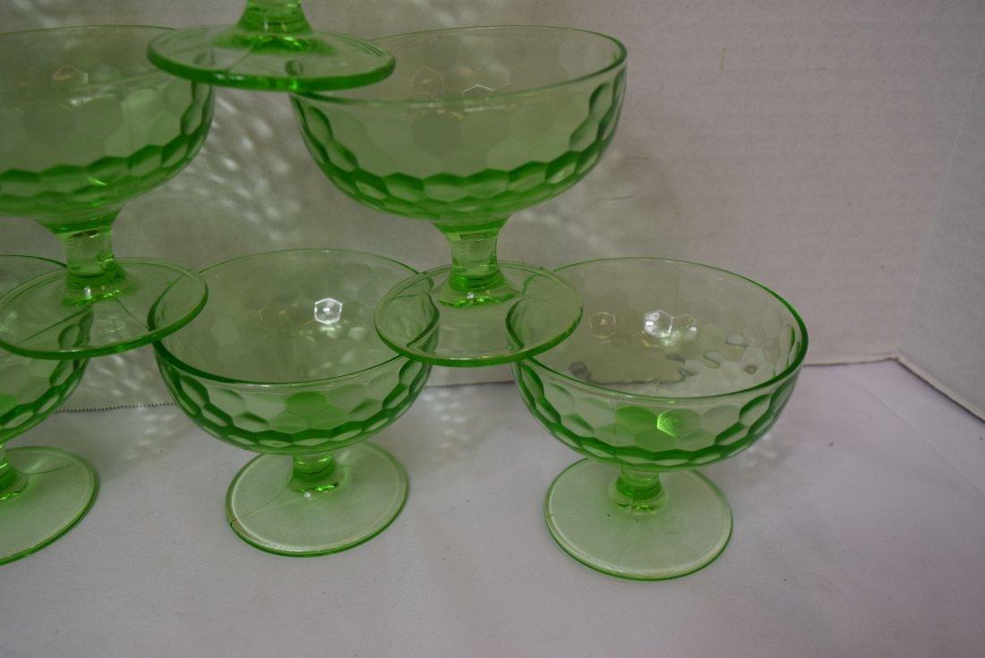 9 VINTAGE FEDERAL DEPRESSION GLASS DESSERT CUPS - 3