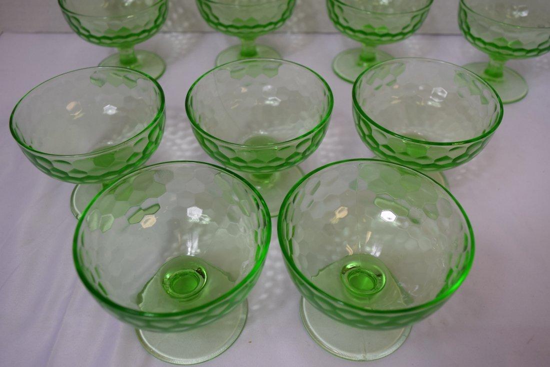 9 VINTAGE FEDERAL DEPRESSION GLASS DESSERT CUPS - 5
