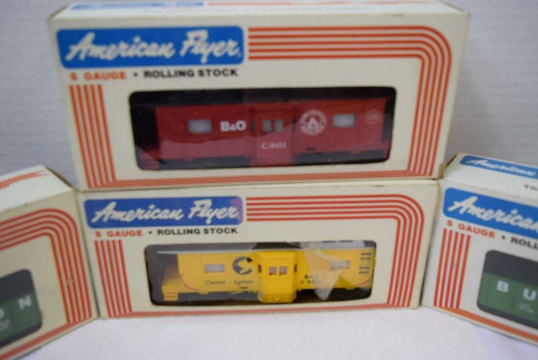 4 AMERICAN FLYER S GAUGE ROLLING STOCK NEW IN BOXE - 2
