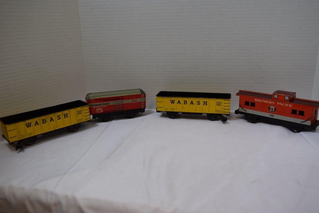 4 MARX TIN LITHO TRAIN CARS