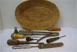 LOT OF VARIOUS ANTIQUE AND VINTAGE TOOLS