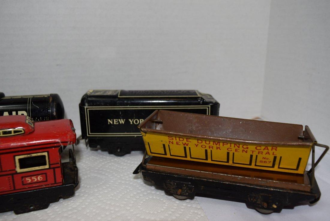6 MARX TIN LITHO ROLLING TRAIN CARS - 2