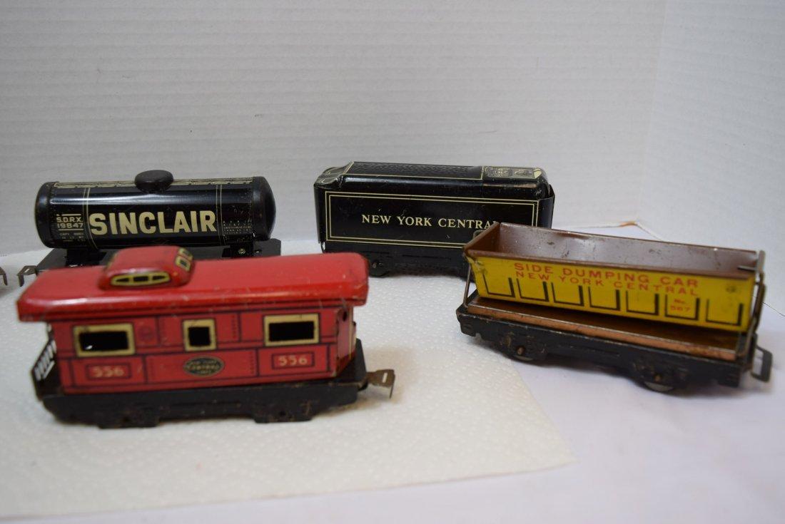 6 MARX TIN LITHO ROLLING TRAIN CARS - 5