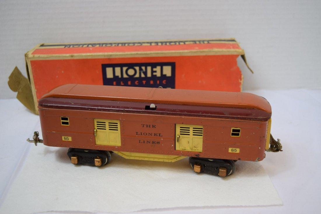 VINTAGE PREWAR LIONEL TINPLATE ROLLING BOX CAR 615