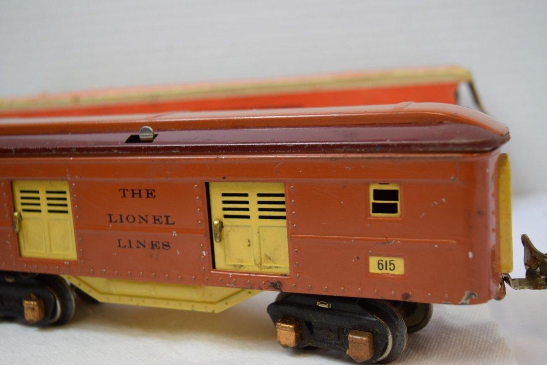 VINTAGE PREWAR LIONEL TINPLATE ROLLING BOX CAR 615 - 2