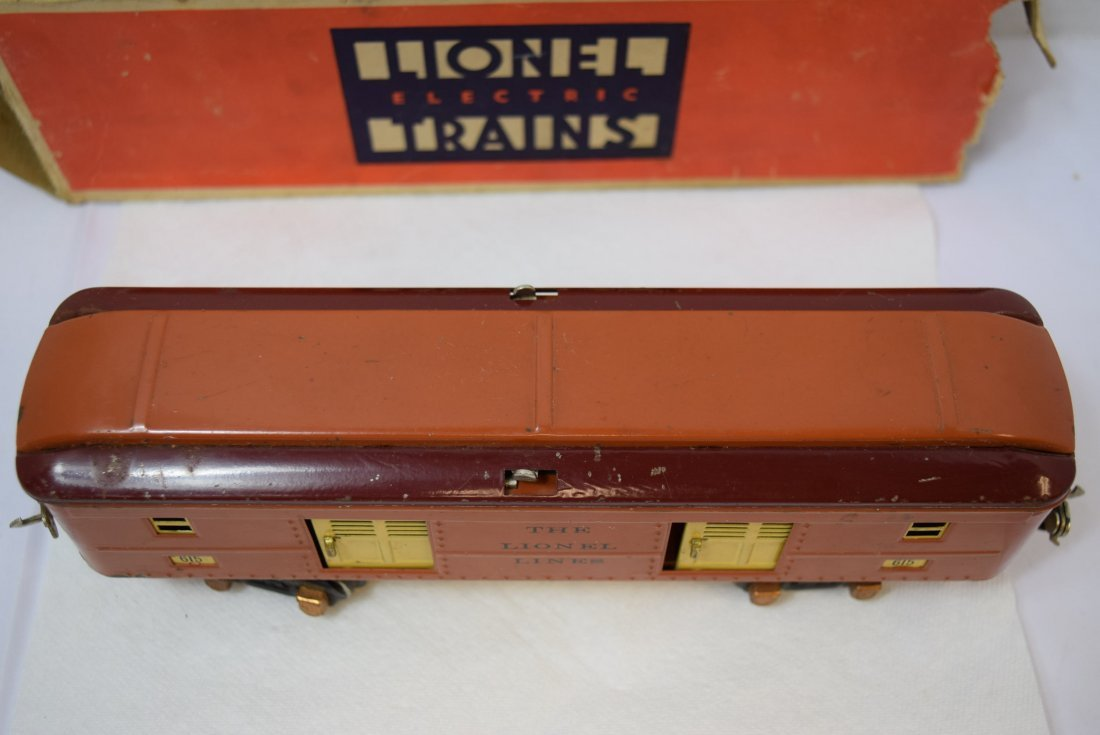VINTAGE PREWAR LIONEL TINPLATE ROLLING BOX CAR 615 - 4