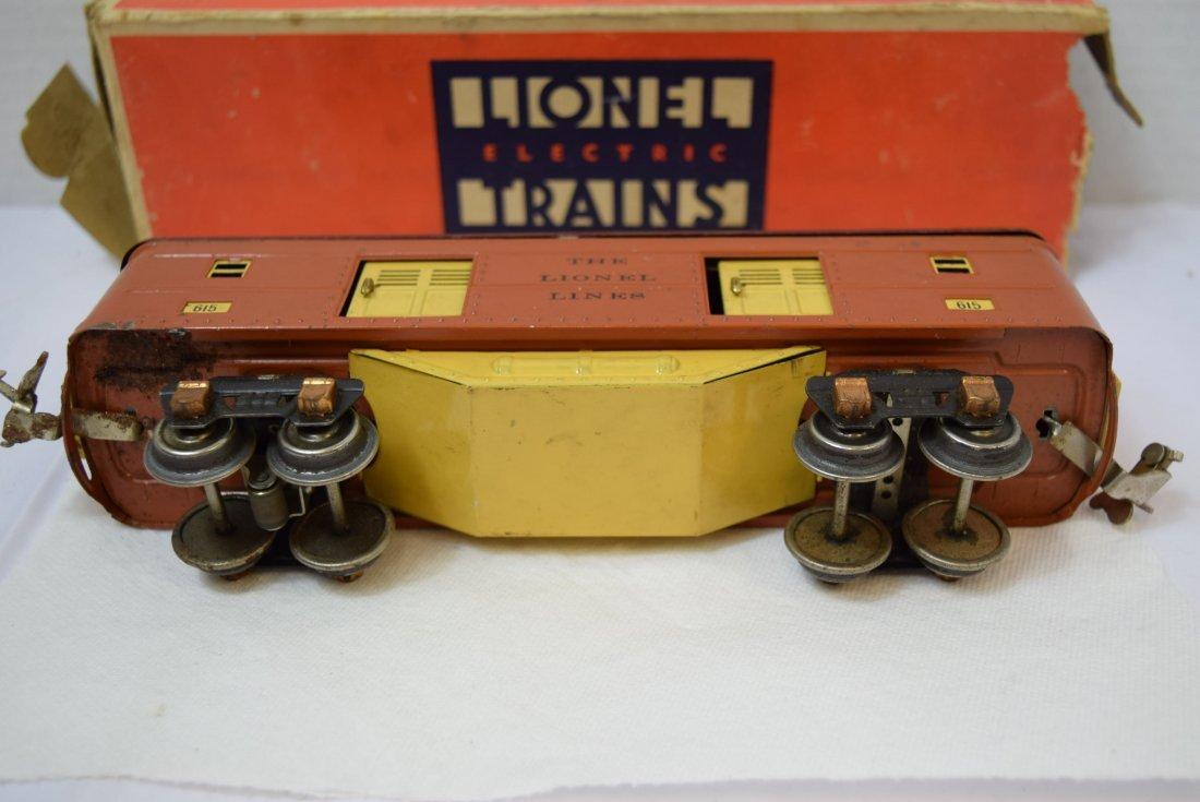 VINTAGE PREWAR LIONEL TINPLATE ROLLING BOX CAR 615 - 5