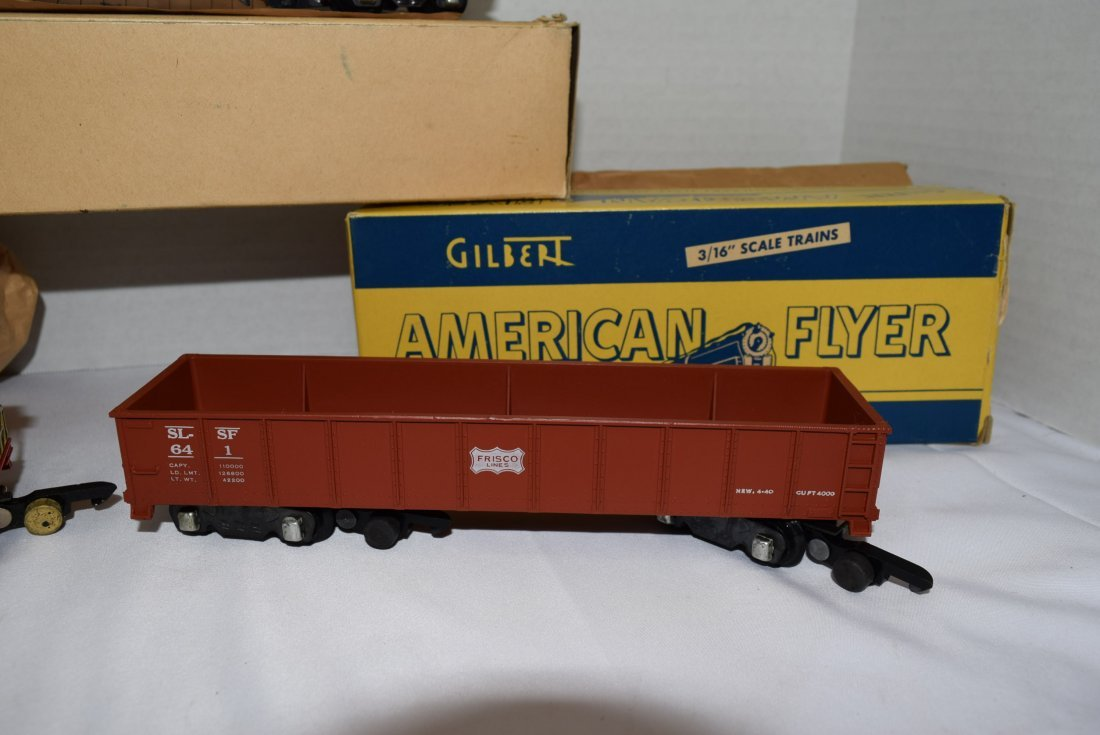 3 AMERICAN FLYER ROLLING CARS 3/16'' - 3
