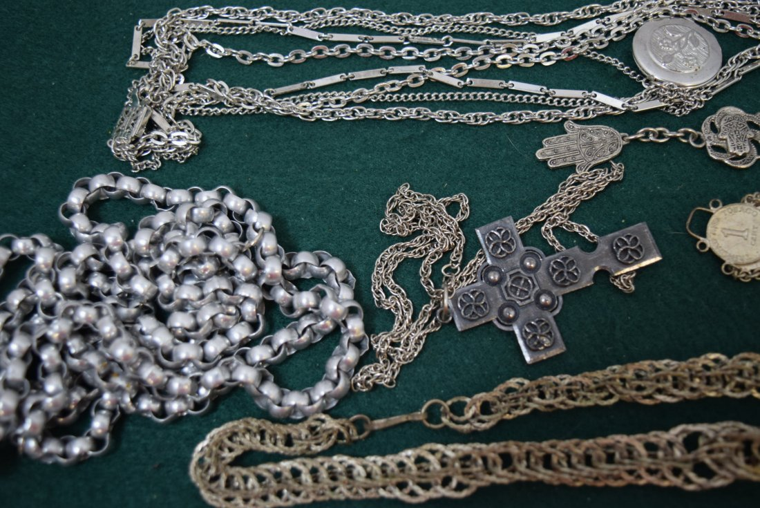 TRAY LOT COSTUME SILVER TONED JEWERLY - 3
