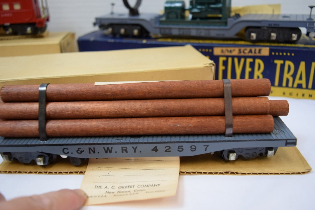 3 AMERICAN FLYER ROLLING CARS 3/16'' - 4