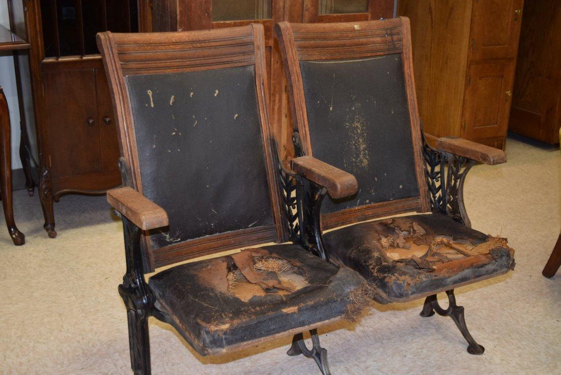 ANTIQUE THEATRE SEATS - 2