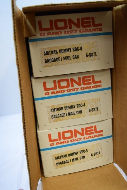 LIONEL NEW OLD STOCK 3 AMTRAK BAGGAGE;MAIL CARS - 2