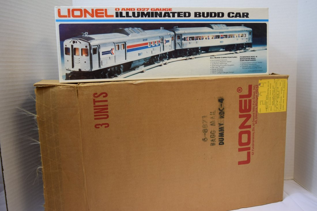 LIONEL NEW OLD STOCK 3 AMTRAK BAGGAGE;MAIL CARS - 3