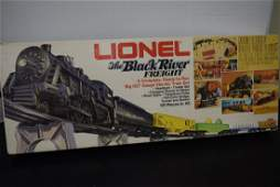 1976 LIONEL THE BLACK RIVER FREIGHT  IN BOX