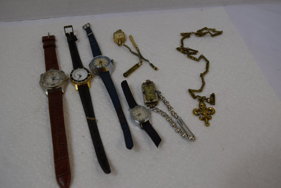 3 VINTAGE WATCHES ELGIN; BEDFORD; LUCERNE AND MORE
