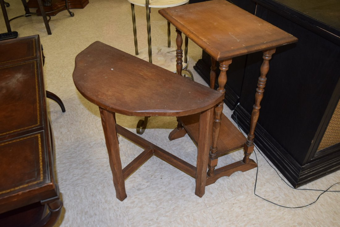 2 SMALL VINTAGE OCCASIONAL TABLES