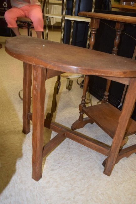 2 SMALL VINTAGE OCCASIONAL TABLES - 2