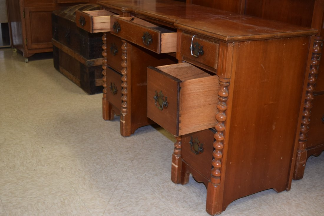 SOLID WOOD WRITING DESK - 4