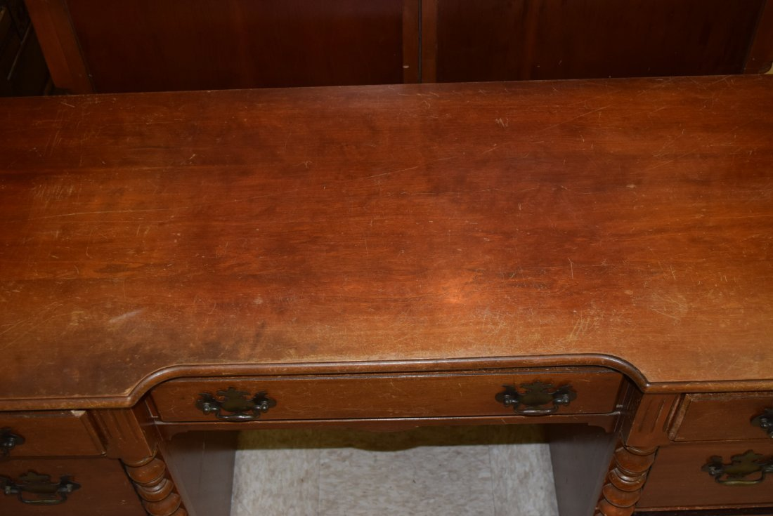SOLID WOOD WRITING DESK - 5