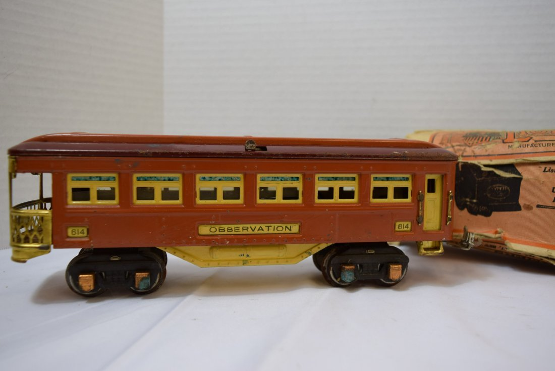 VINTAGE PREWAR LIONEL TINPLATE OBSERVATION CAR 614 - 2