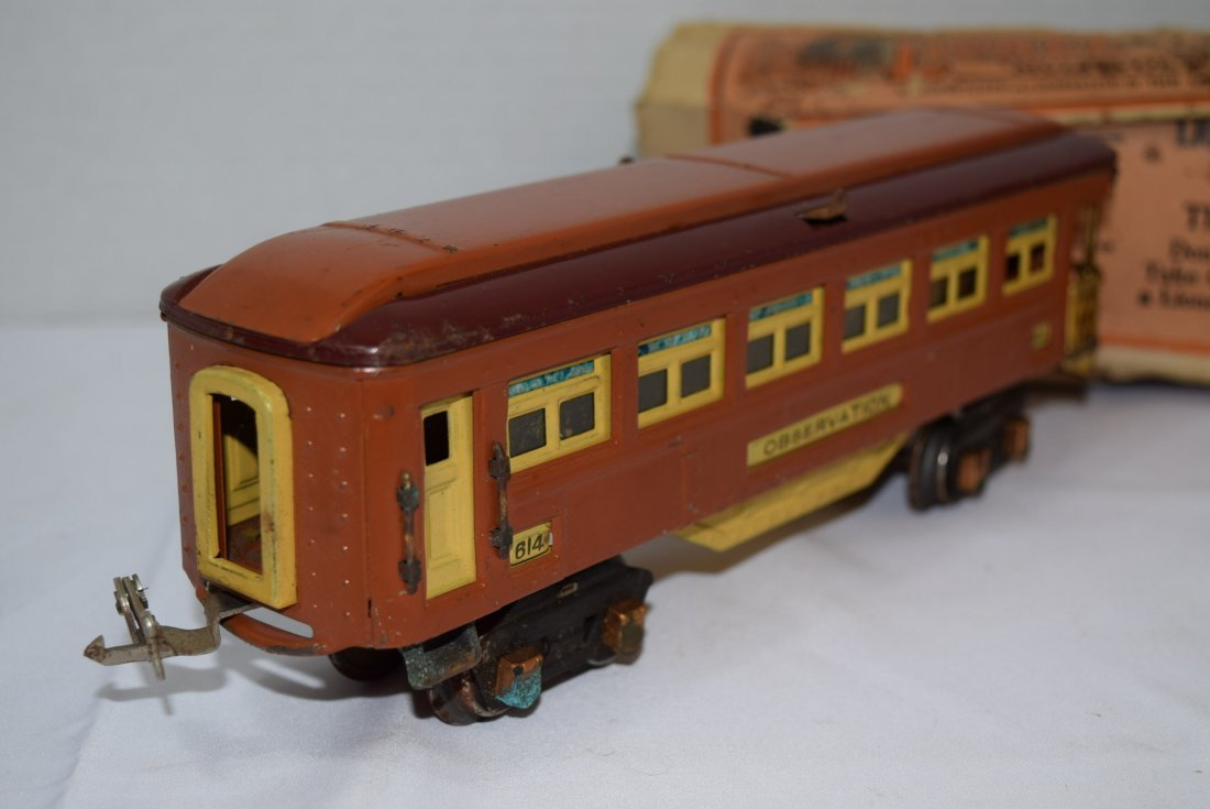 VINTAGE PREWAR LIONEL TINPLATE OBSERVATION CAR 614 - 4