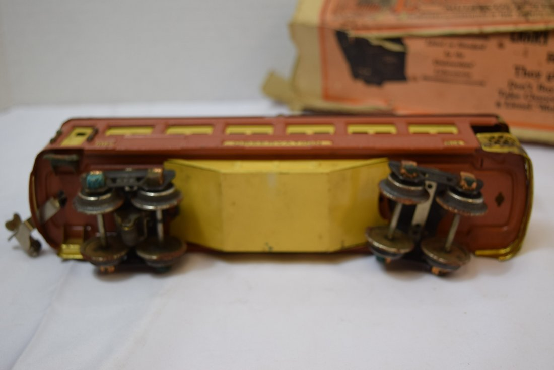 VINTAGE PREWAR LIONEL TINPLATE OBSERVATION CAR 614 - 5