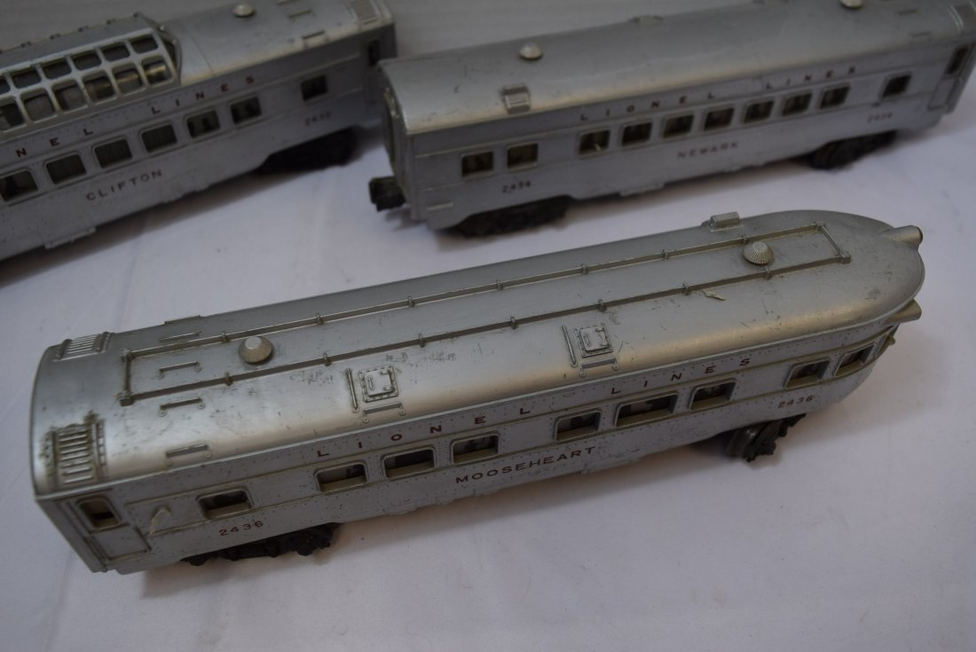 3 LIONEL TRAIN LIGHTED OBSERVATION CARS - 3