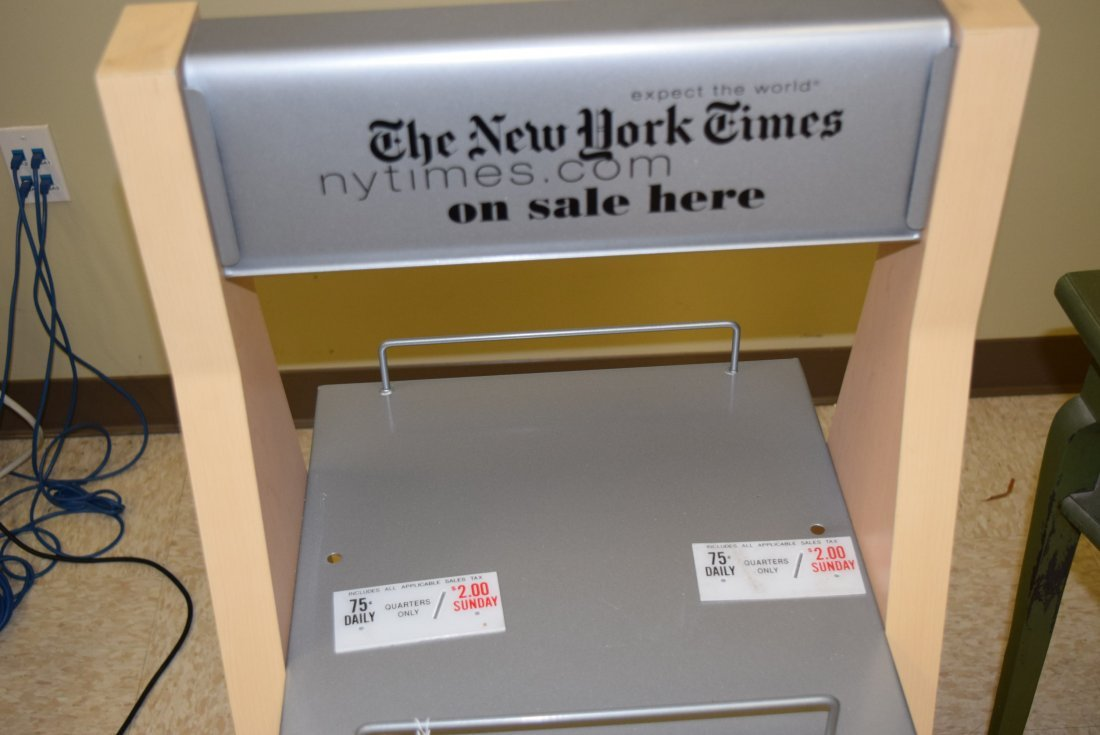 NEWER NEW YORK TIMES NEWS STAND - 2