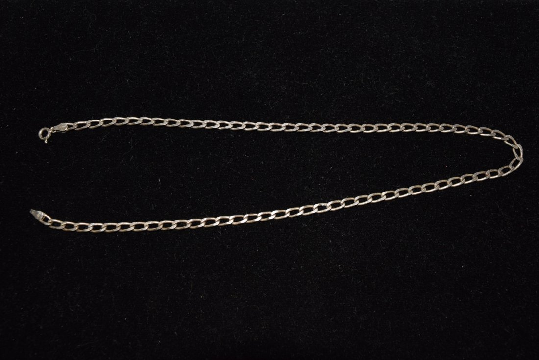 STERLING CHAIN NECKLACE 14.3 GRAMS