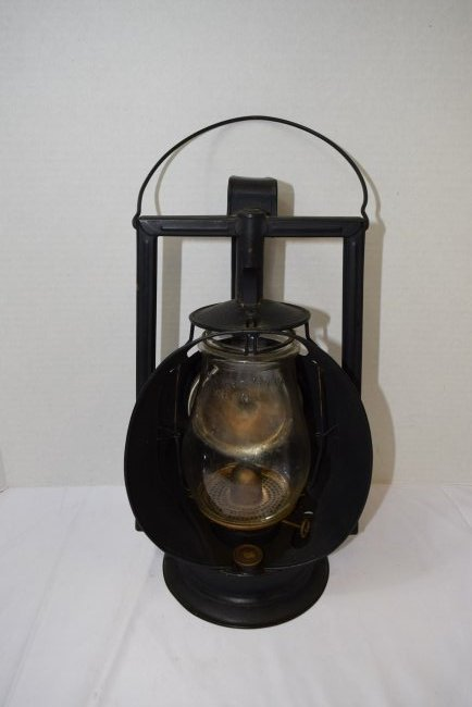 ANTIQUE ACME INSPECTOR RAILROAD LATERN WITH GLOBE