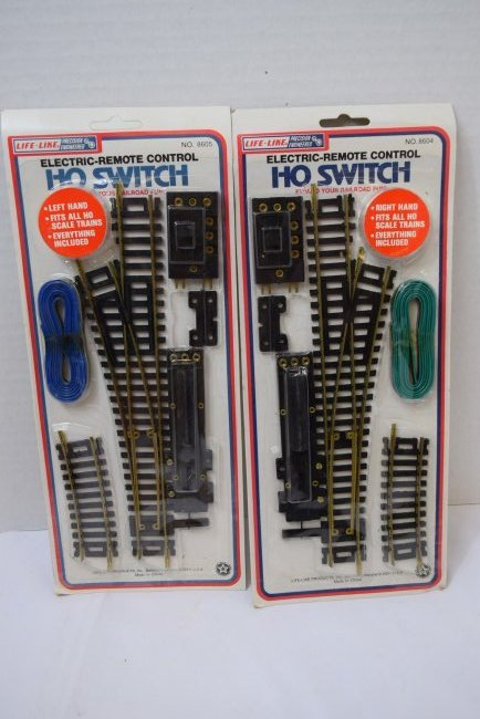 LIFE-LIKE HO SWITCHES. RIGHT & LEFT HAND