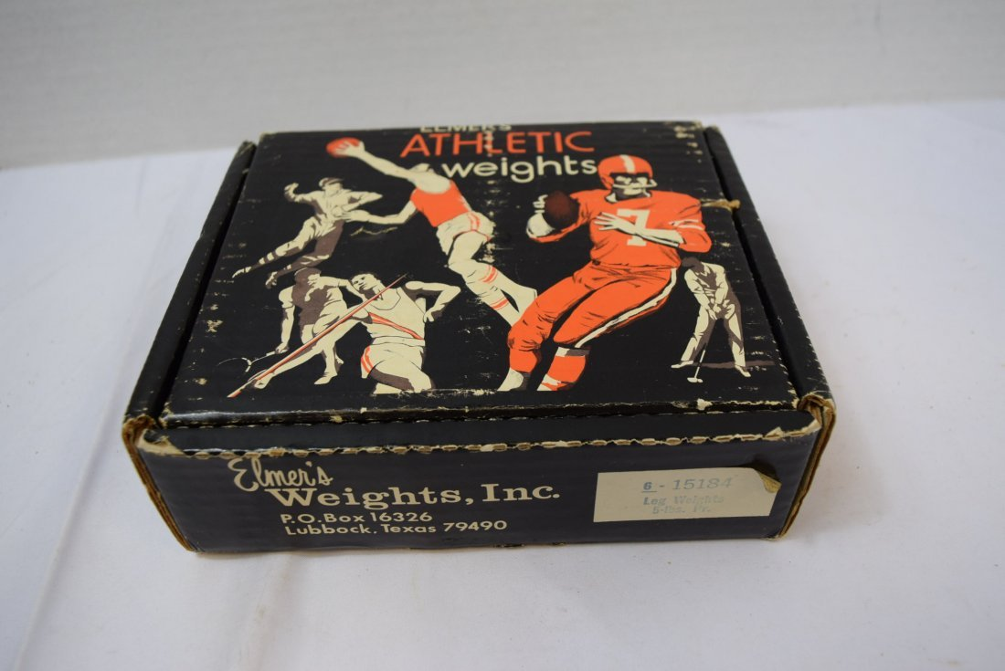 VINTAGE ELMER'S ATHLETIC 5 LBS ANKLE WEIGHTS