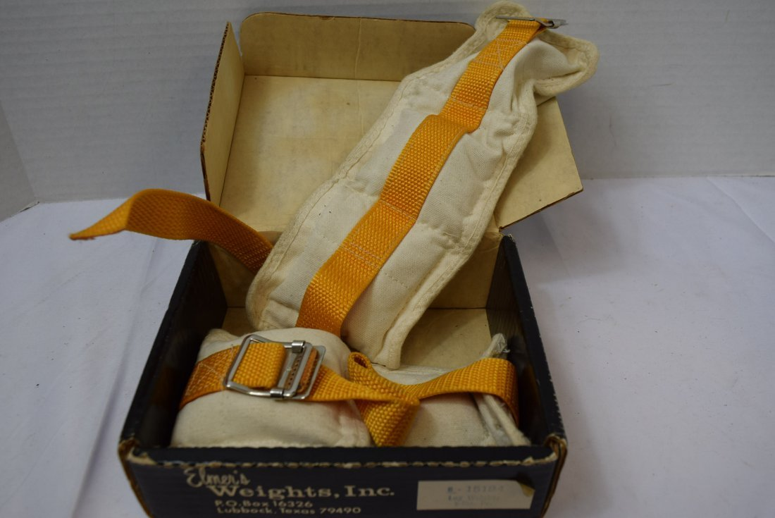 VINTAGE ELMER'S ATHLETIC 5 LBS ANKLE WEIGHTS - 2