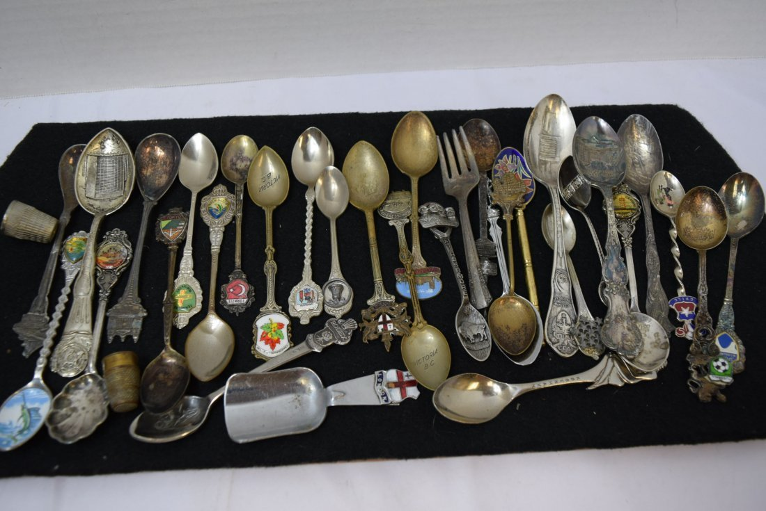 LOT OF COLLECTOR SPOONS & MORE