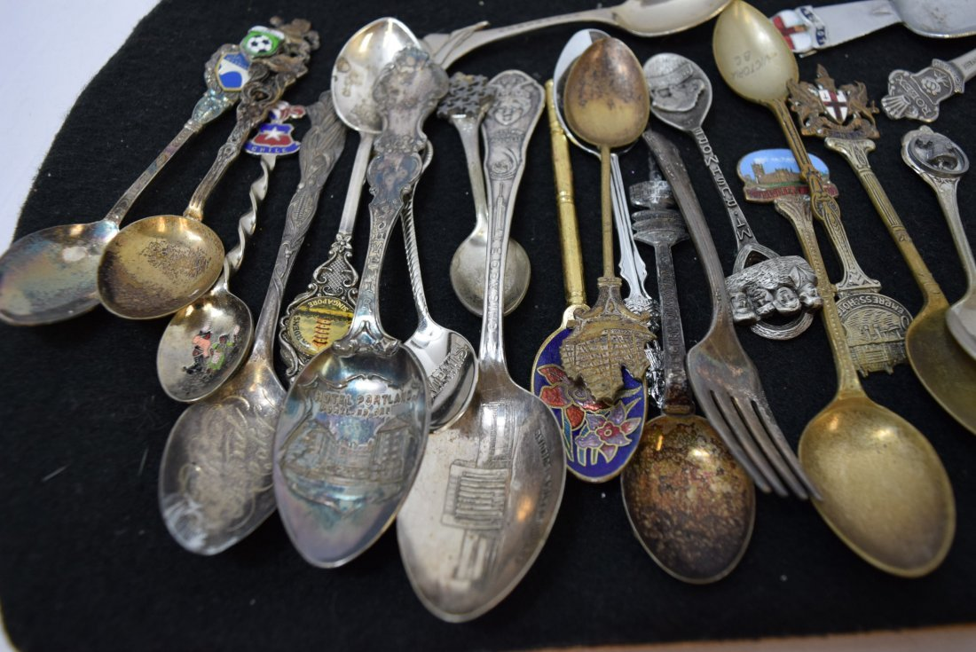 LOT OF COLLECTOR SPOONS & MORE - 7