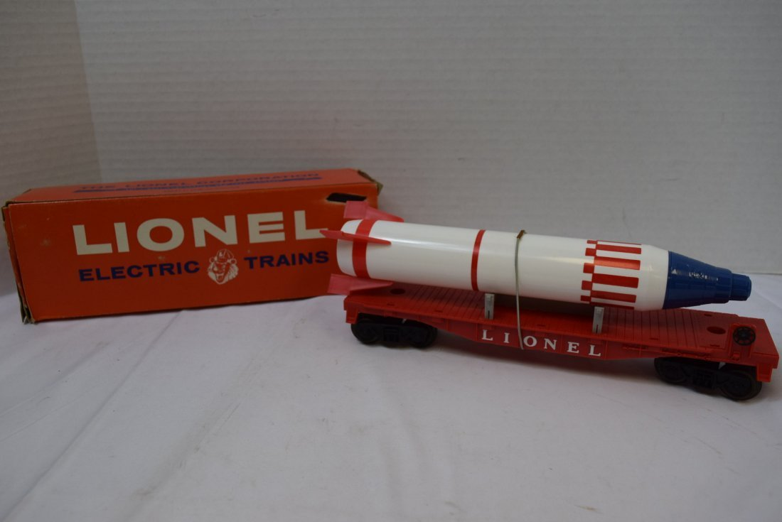 LIONEL 6407 STERLING MISSLE CAR WITH PENCIL SHAPEN