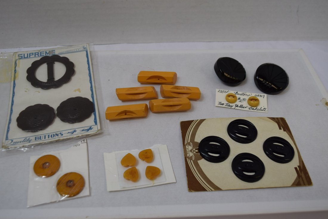 BAKELITE YELLOW AND BLACK BUTTONS
