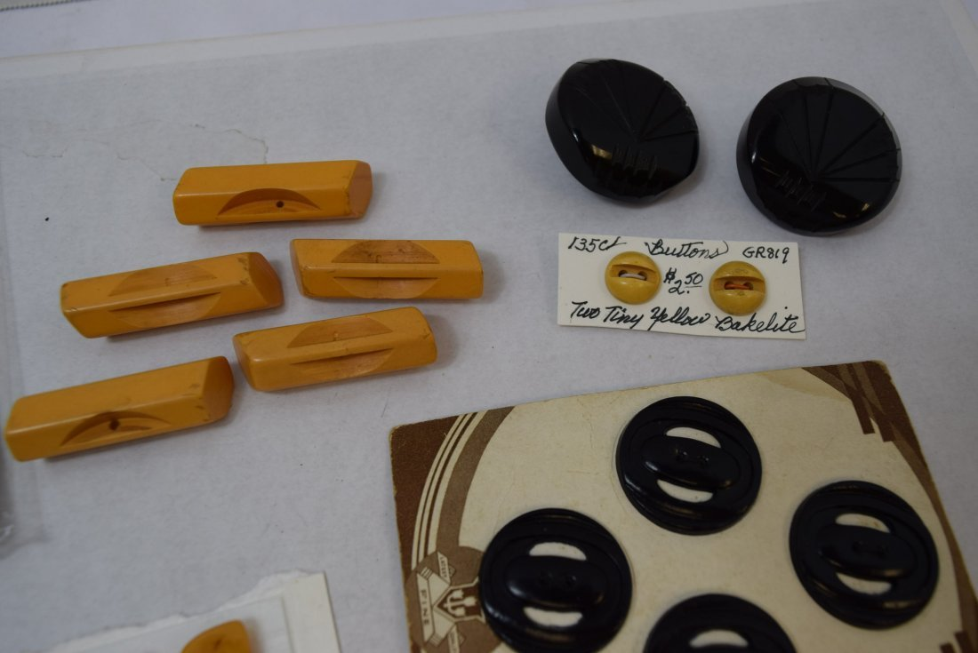 BAKELITE YELLOW AND BLACK BUTTONS - 2