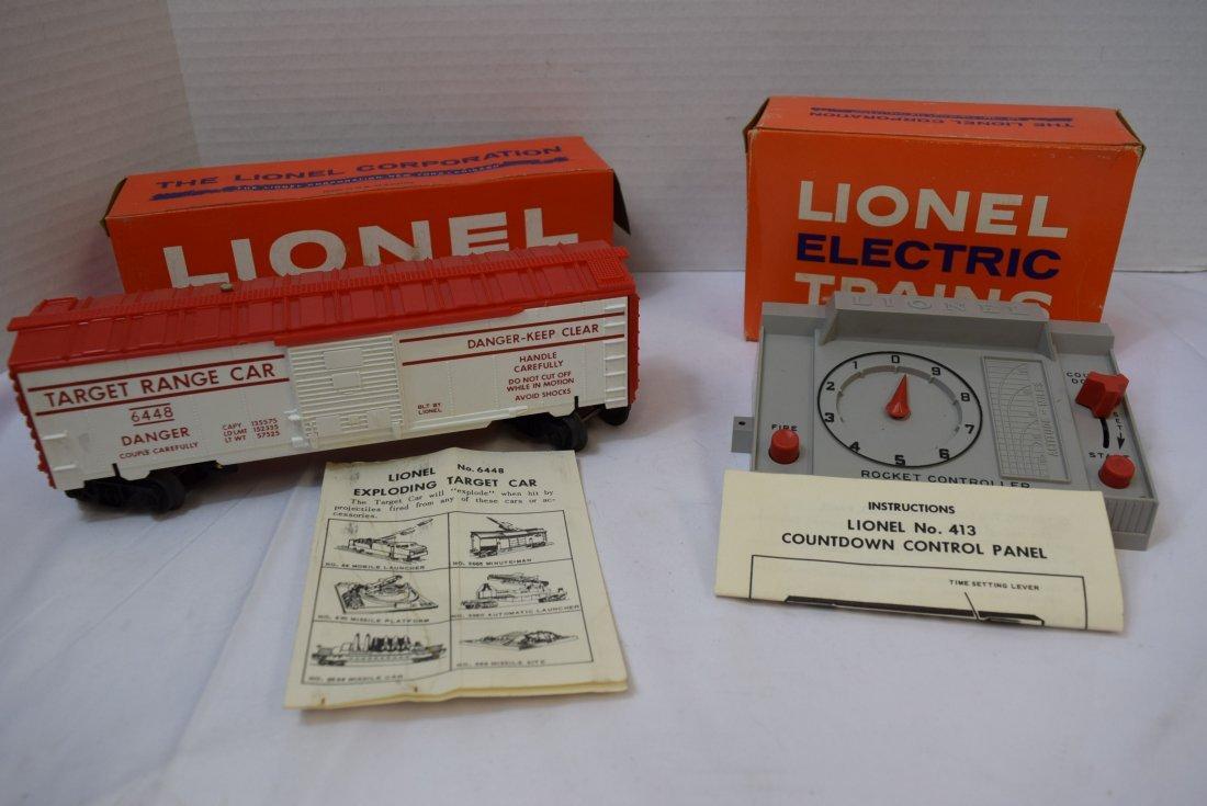 VINTAGE LIONEL TRAIN; EXPLODING TARGET CAR  AND CO