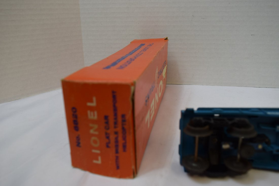 LIONEL FLAT CAR WITH HELICOPTER & MISSILES 6820 - 9