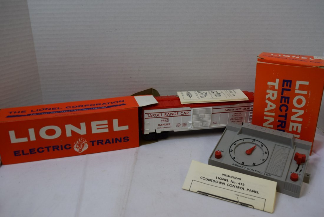 LIONEL EXPLODING TARGET CAR AND CONTROL PANEL
