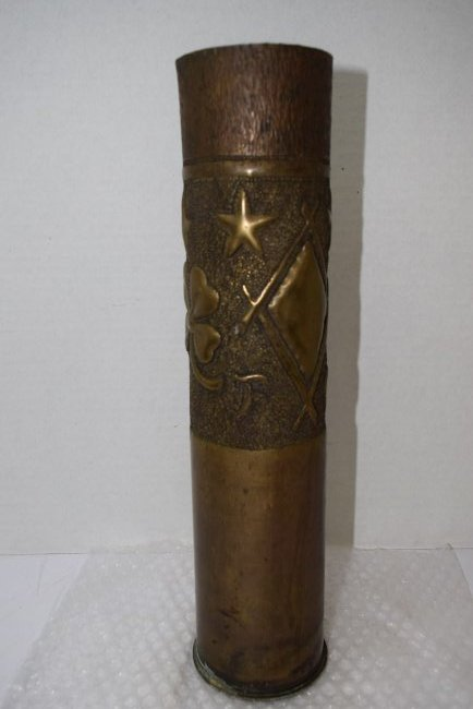 TRENCH ART SHELL CASING - 1928 - 3